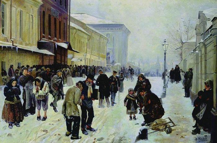 El asilo (1889), de Vladímir Makovski.