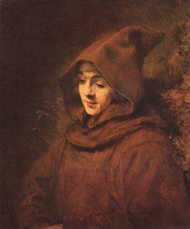 Retrato de Tito en traje de monje Rembrandt