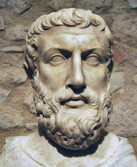 Parménides busto