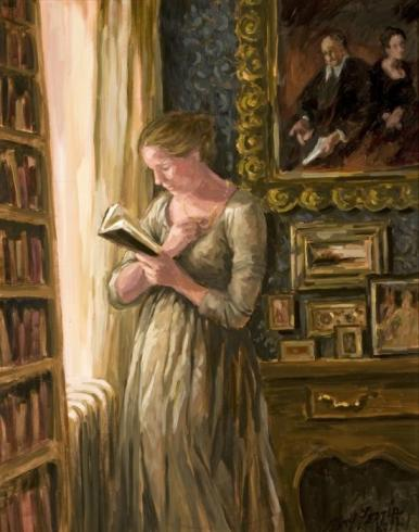 Woman Reading in a Study, by Mary Ferris Kelly