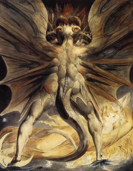 De esta manera representó William Blake la eterna pugna entre el bien y el mal