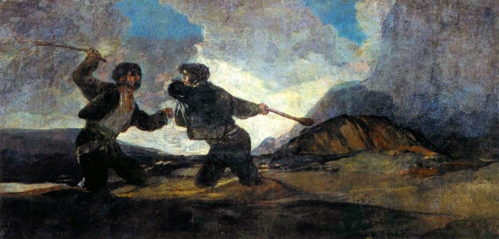 Riña_a_garrotazos Goya