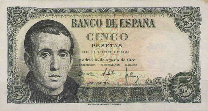 Billete Jaime Balmes