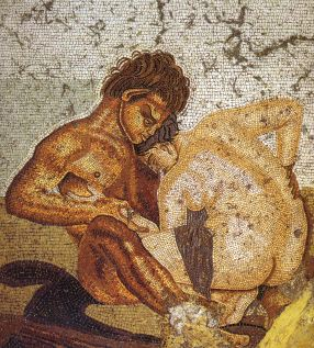 Pompeii_-_Casa_del_Fauno_-_Satyr_and_Nymph_-_MAN