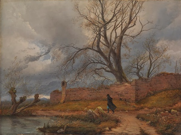 16 Carl Julius von Leypold (1805–1874) - Wanderer in the Storm, 1835 - Oil on canvas