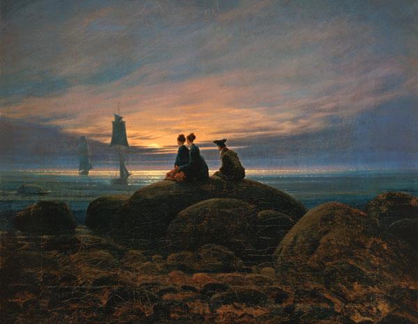 1-Mondaufgang-am-Meer Friedrich